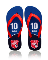 Personalized team flip flops