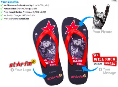 merchandising flip flops