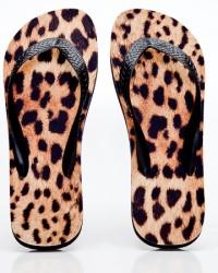 Leopard Skin Flip Flops