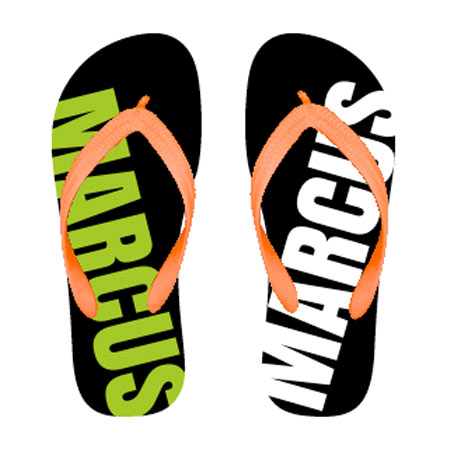 Personalized Thong Sandals with your name