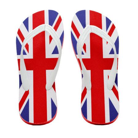 uk flag flip flops